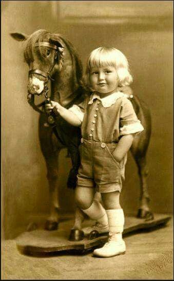A boy & his horse.