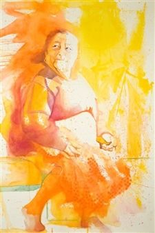 "Concha Osuna, ""Acuarelas 7"" | Watercolor on Paper | $4,500 | Source: http://www.art-mine.com/artistpage/concha_osuna.aspx | Agora Gallery | Contemporary Fine Art | NYC, NY."