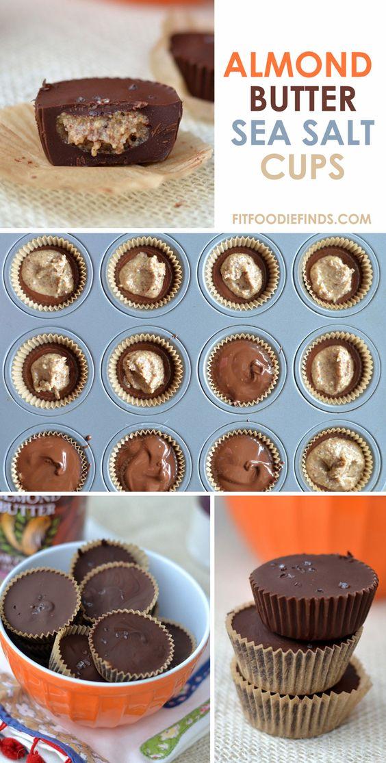 Almond Butter Sea Salt Cups | Recipe | Almond Butter, Sea Salt and ...