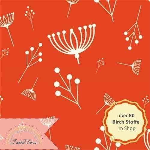 Birch Fabrics Jersey Twig Fall Tomato rot von LottiKlein auf DaWanda.com