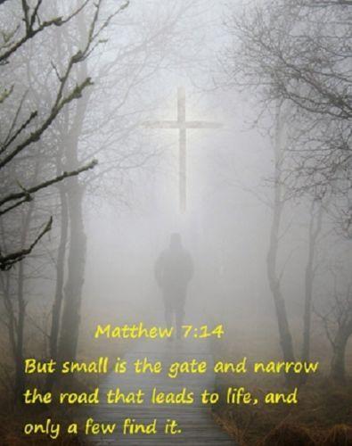 Matthew-7-14-Holy-Bible-Scripture-Art-Print-8-x-10-Christian-Photo