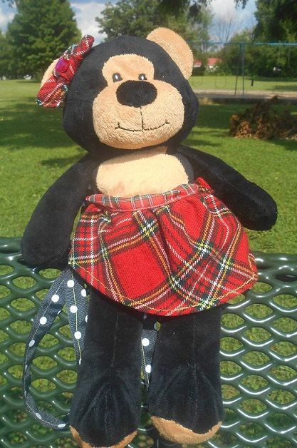 Plaid Teddy Bear Purse