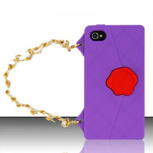 Purple Hand Bag Style silicone case for iPhone 4/4S here! Does anyone want to make different look for your own phone?