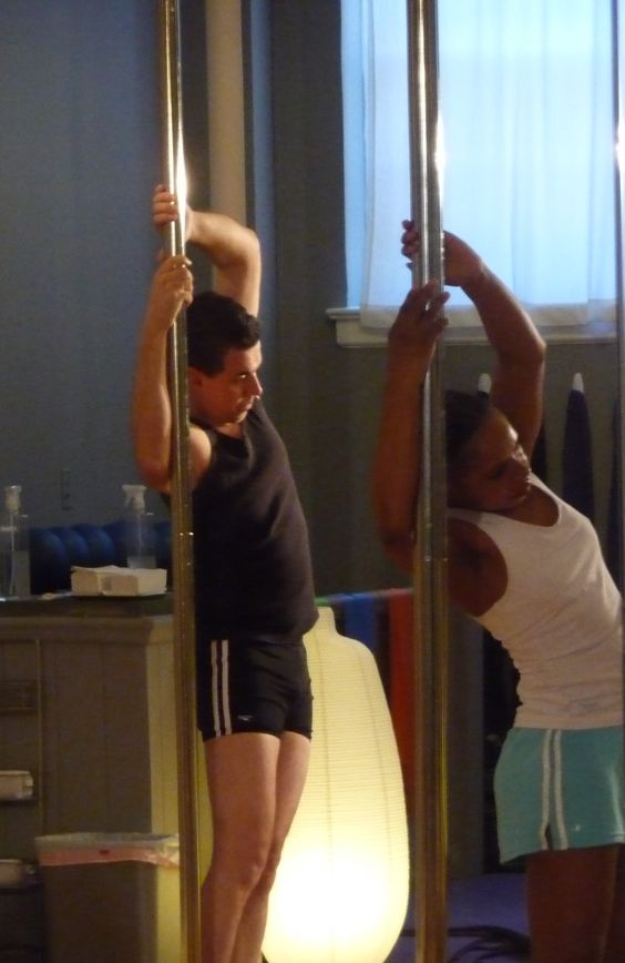 Pole Fitness- Yup guys are allowed to take class too!!! ~ www.workitfit.com ~ info@workitfit.com ~ www.facebook.com/workitfit ~ www.twitter.com/workitfit