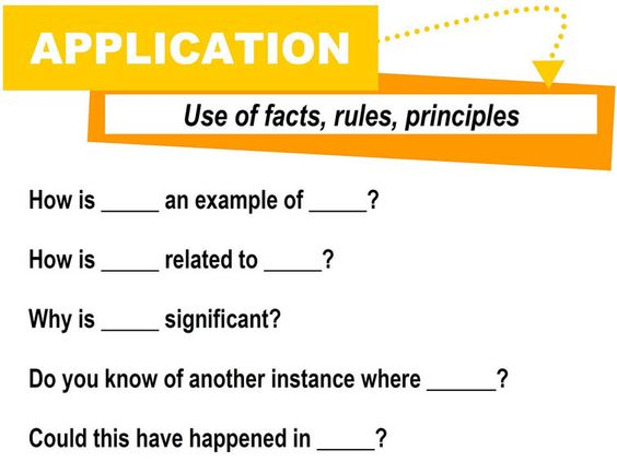 How to write a good application question
