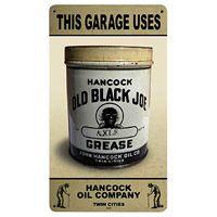 Hancock Old Black Joe Axle Greases Tin Sign  http://www.retroplanet.com/PROD/23087
