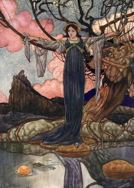Charles Robinson ~ The Frog Prince~The Big Book of Fairy Tales~ 1911 ~via The Frog Fetches the Golden Ball