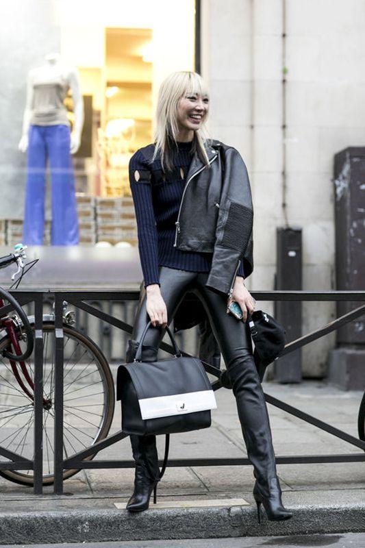 巴黎高訂時裝週街拍:秀場外的模特兒!