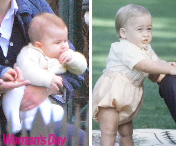 Princess Charlotte, Prince Georges And Baby Prince On