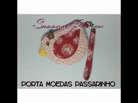 Porta Moeda Passarinho - YouTube
