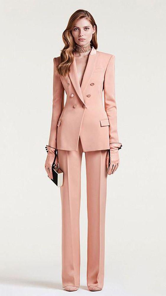 Beige Pant Suit Womens