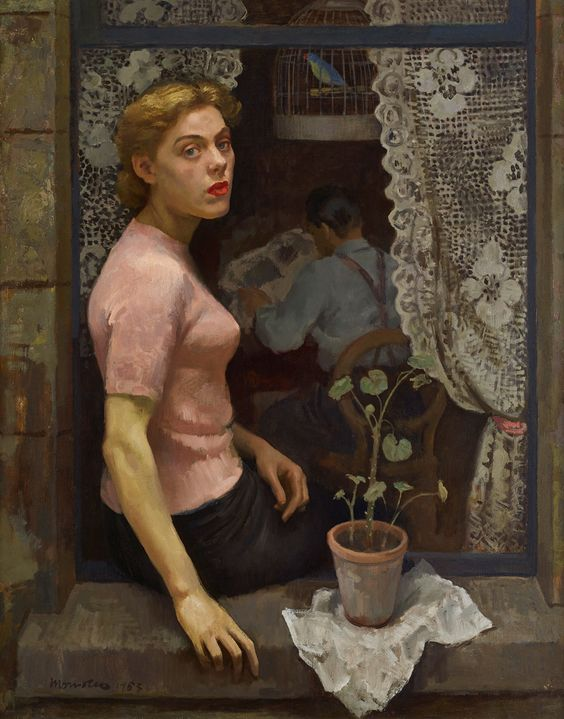 Woman in the Window, 1953 by Alberto Morrocco (Scottish 1917-1998):