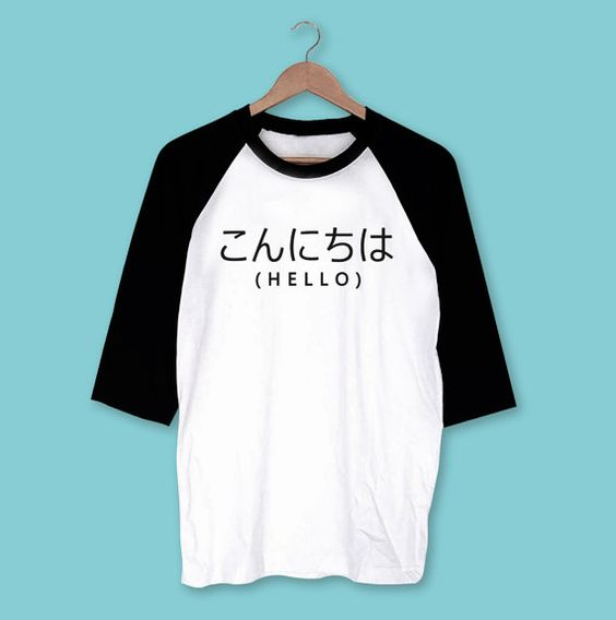 Hello Japanese Shirt T-Shirt  Gift for friend  Present by OHDIVA