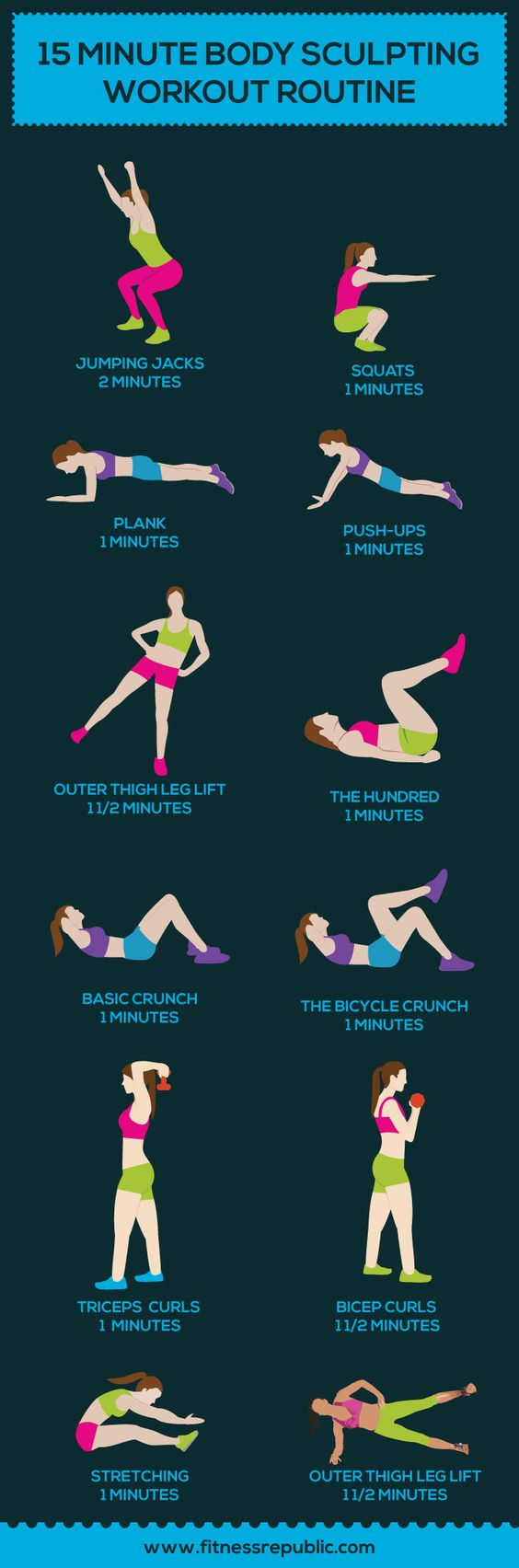 15 Minute Body Sculpting Workout Routine