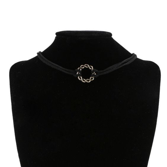 1PC Handmade Gothic Retro Punk 90's Black Velvet Women Lady Charm Choker Necklace Jewelry