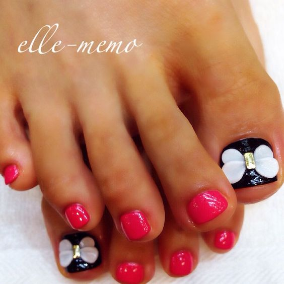 Butterfly Toe Nail Ideas And Designs