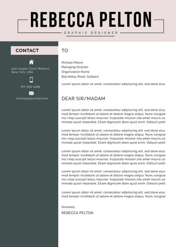 Professional Resume Template Modern Cv Template For Word Cover