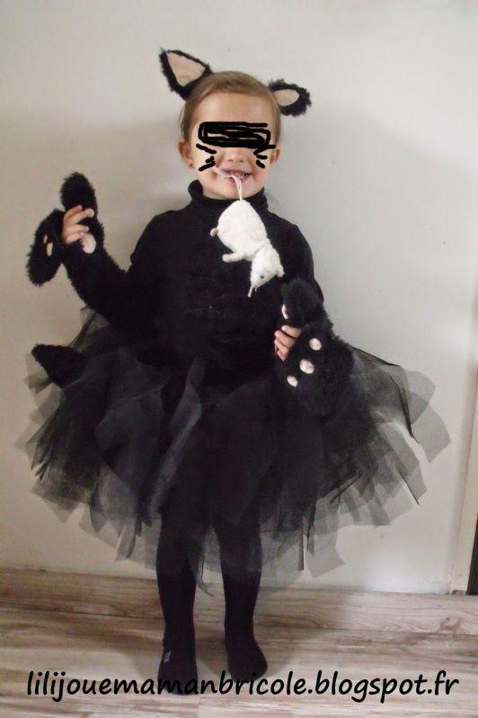 Quatang Gallery- Tuto Costume Chat Noir Fille Pour Halloween Lili Joue Maman Bricole Costume Chat Costume Chat Noir Deguisement Chat