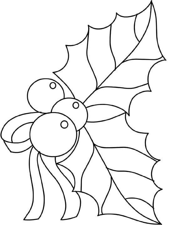 Holly Coloring Pages Christmas Coloring Pages Christmas Drawing