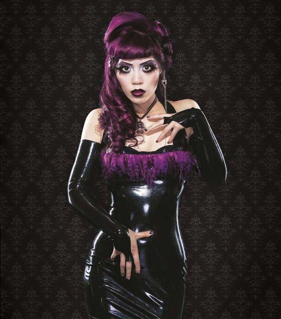La Carmina On Alt Noir Goth Magazine Cover Gothic Beauty