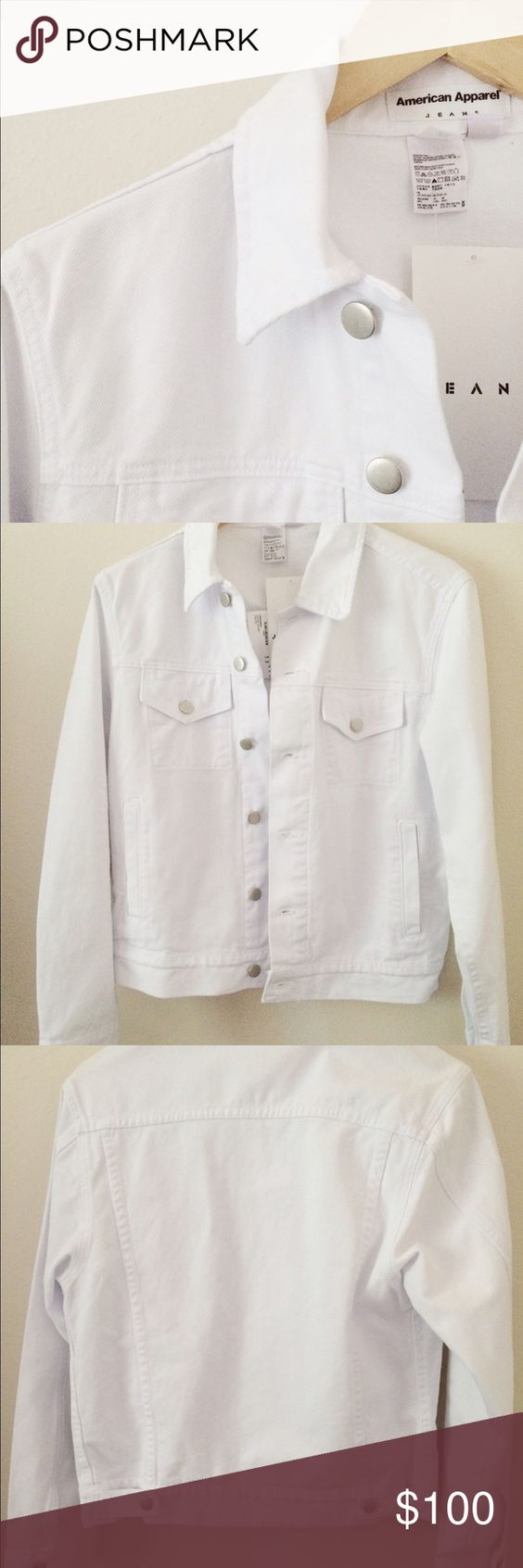 American Apparel White Jean Jacket Boutique | Coats, Jackets and ...