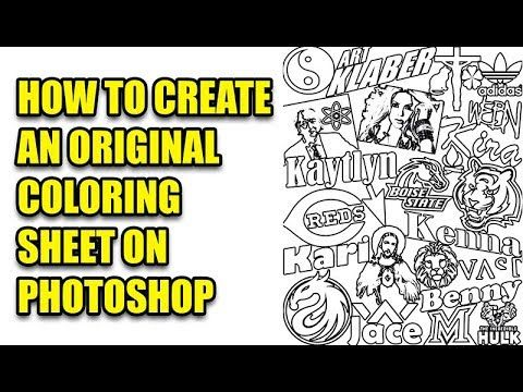 39+ How to make a coloring page from a photo in photoshop download HD