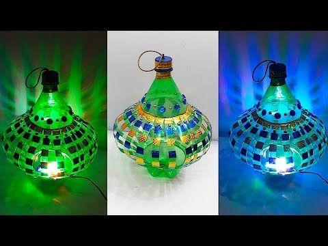 Diy Lantern Tealight Holder From Waste Plastic Bottle At Home Diy Home Decorations Idea Youtube Diy Lanterns Plastic Bottle Art Water Bottle Crafts