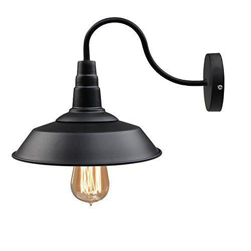 LNC®Black Metal Industrial Wall Sconce Shade 10-Inch(Bulbs