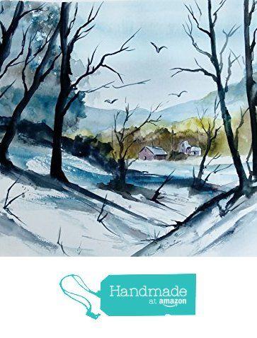 ORIGINAL painting Watercolor painting WATERCOLOR Painting, watercolor landscape, Pinetreeart, WATERCOLOR, landscape original, painting from Maine ARTist https://www.amazon.com/dp/B01I2B8OPG/ref=hnd_sw_r_pi_dp_jAJFxbNEXSNCN #handmadeatamazon