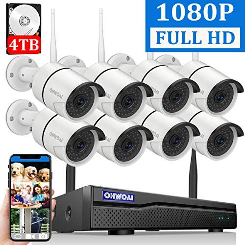2019 New Security Camera System Wireless 4tb Hard Drive Pre Install 8 Channel 1080p Nvr 8 Video Security System Security Camera System Video Security