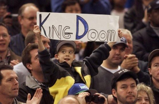 Seahawks fans cheer their team in the Kingdome on Dec. 26, 1999.