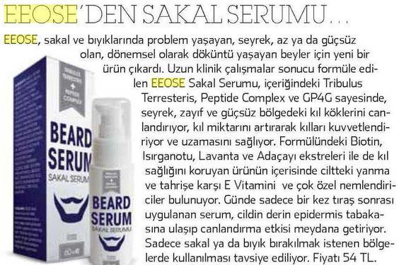OTC Plus: Sakal ve bıyık bakımı için ÉEOSE sakal ve bıyık serumu