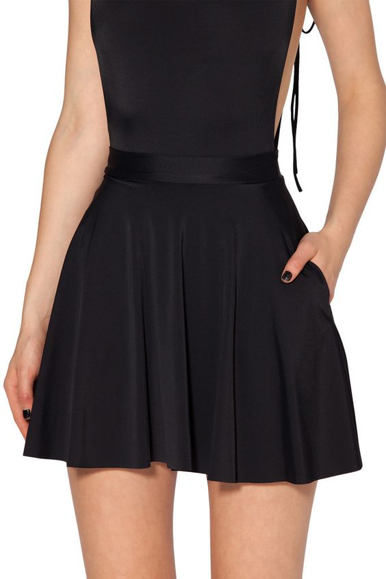 Black Milk Clothing The Awesome Pocket Skater Skirt L some fuzzies otherwise PC