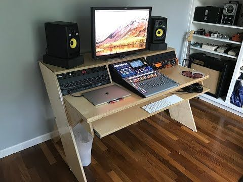 10 Diy Output Platform Desk W Angled Racks Youtube Home Studio Desk Home Studio Music Studio Desk
