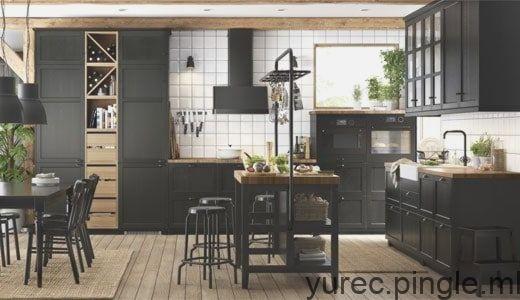 Kuche Lerhyttan Schwarz Lasiert Home Decor Home Furniture