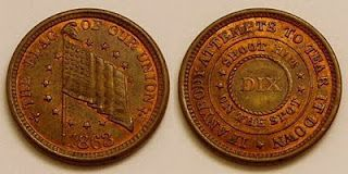 The United States Coinage Act of June 8th 1864 made Civil War tokens illegal.