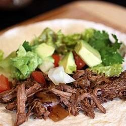 Charley's Slow Cooker Mexican Style Meat...a hot and spicy chuck roast you can make into burritos, tacos, or any number of other Mexican-style dishes.