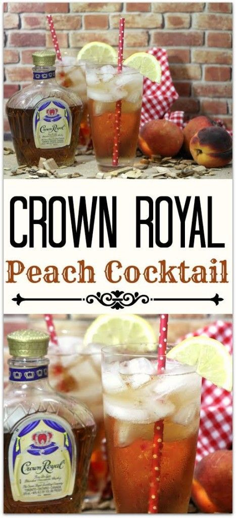 This Crown Royal Peach cocktail is delicious and refreshing! The flavor of the Canadian whisky paired with the sweetness of peach is a perfect combination for a summer cocktail!