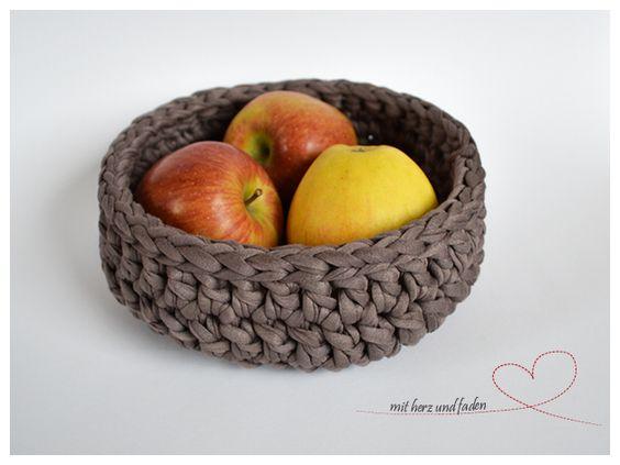 Korb – Brotkorb – Obstkorb  –  taupe
