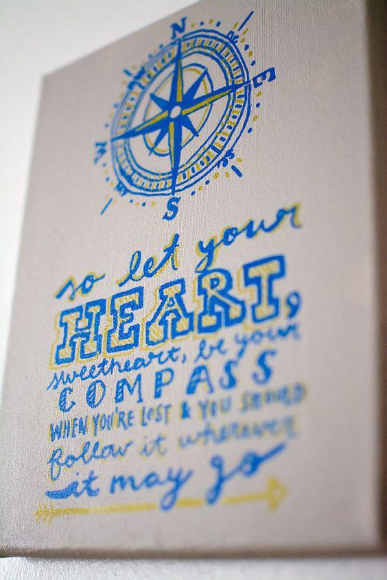 Lady Antebellum Compass Lyrics Canvas by HazelberryBoutique