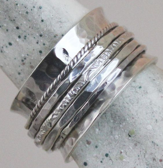 Low Profile Spinner Ring all Sterling door charmedlifedesigns