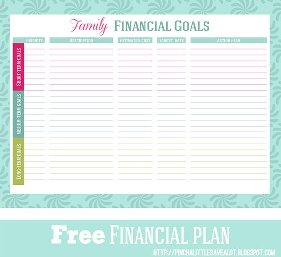 Financial Goals: Financial Goals, Printables And Goals Worksheet On Pinterest