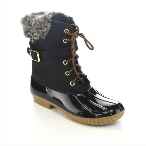 Duck boots Black duck boots.. Shoes Ankle Boots & Booties