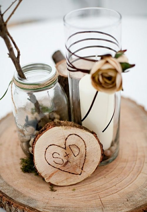 Country wedding do it yourself centerpeices wedding for Do it yourself table decorations