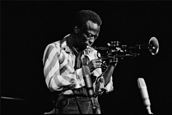"""zzzze: """" GLEN CRAIG Miles playing in a concert at the Fillmore East in NYC, June 18, 1970. Photograph: Black and White Type: Silver Gelatin. :) """""""