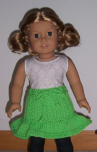 American girl ruffles skirt