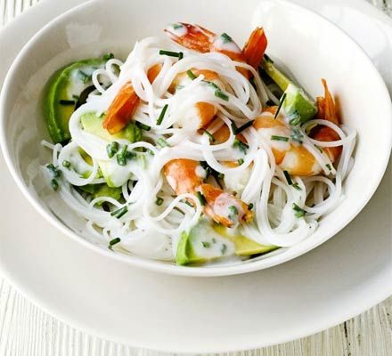 Prawn & Avocado Salad with Coconut Dressing-this looks so delicious!