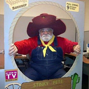 This perfect embodiment of Stinky Pete. | 24 Halloween Costumes That Will Make You Do A Double Take