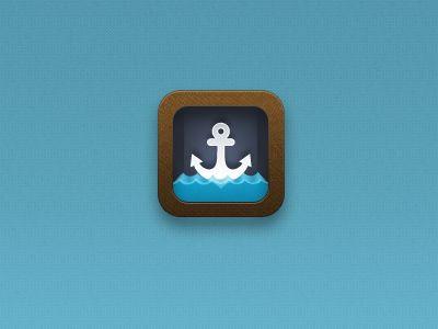 High seas iOS icon, by Matt Hamm on Dribbble.