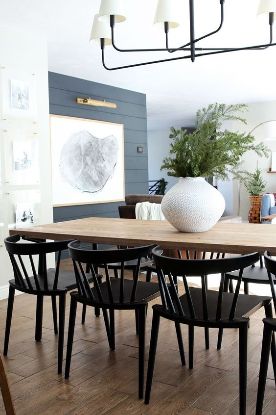 New Low Back, Modern Spindle Chairs for the Dining Room! - Chris Loves Julia #ChairForBedroom #diningroom